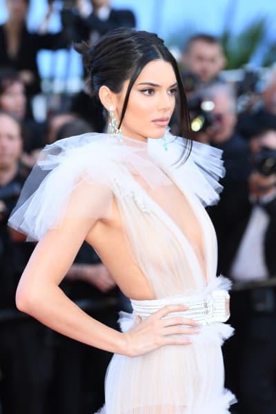 Kendall Jenner in Sheer White