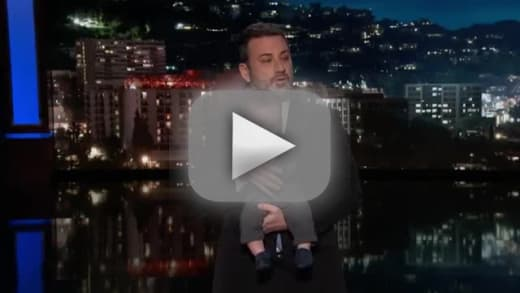 Jimmy kimmel makes emotional return with a surprise guest