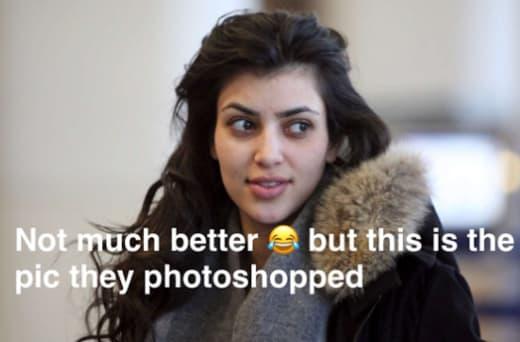 Kim Kardashian Pokes Fun at Meme of her