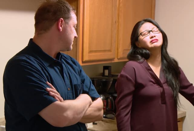 Eric and a disappointed leida