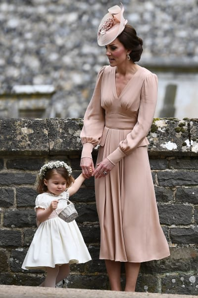 Kate Middleton with Charlotte