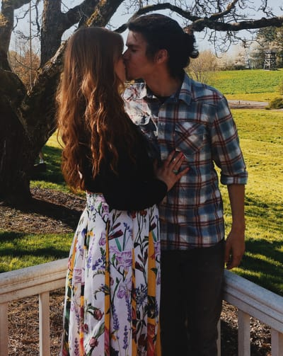 Isabel Rock and Jacob Roloff, Engagement Kiss
