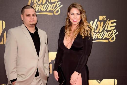 Kailyn Lowry and Jo Rivera at MTV Movie Awards