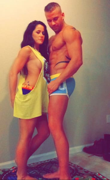 Jenelle and Nathan Half-Naked