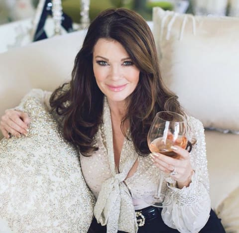 Lisa Vanderpump With a Big Glass of Wine