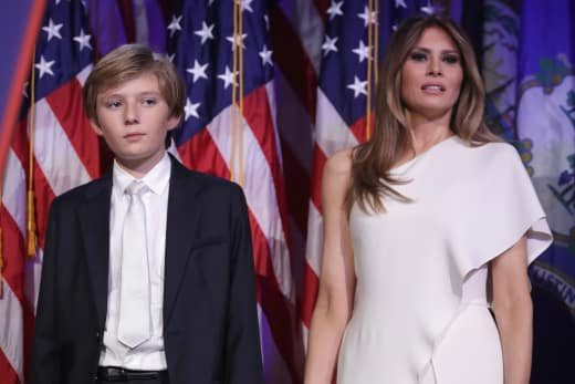 Melania Trump and Barron Trump
