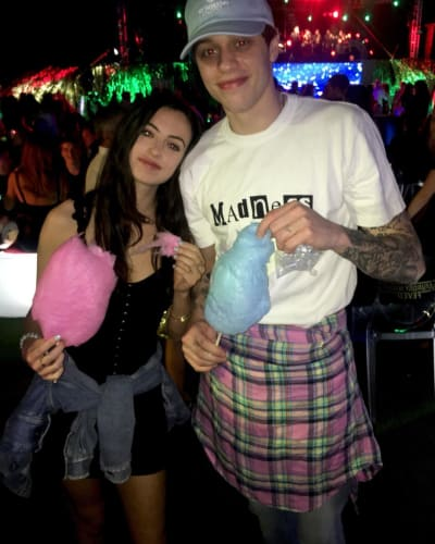 Cazzie David and Pete Davidson with Cotton Candy