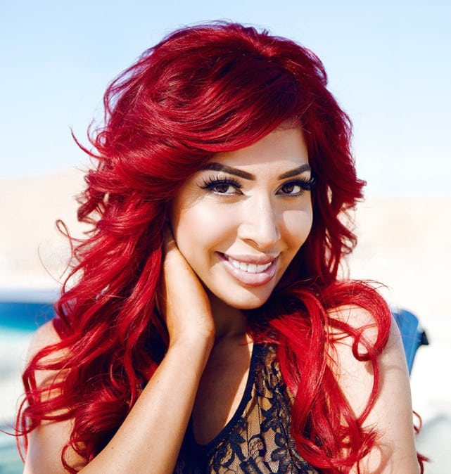 Farrah abraham red hair