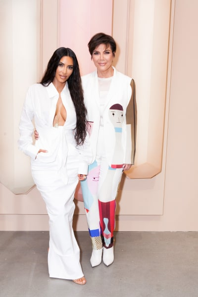 Kim and Kris in White