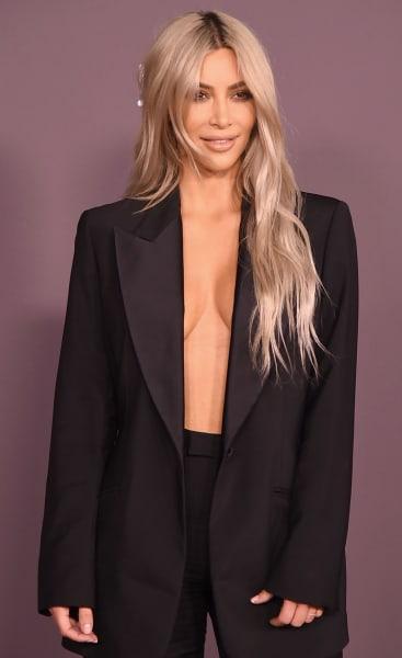 Kim Kardashian Dresses Down