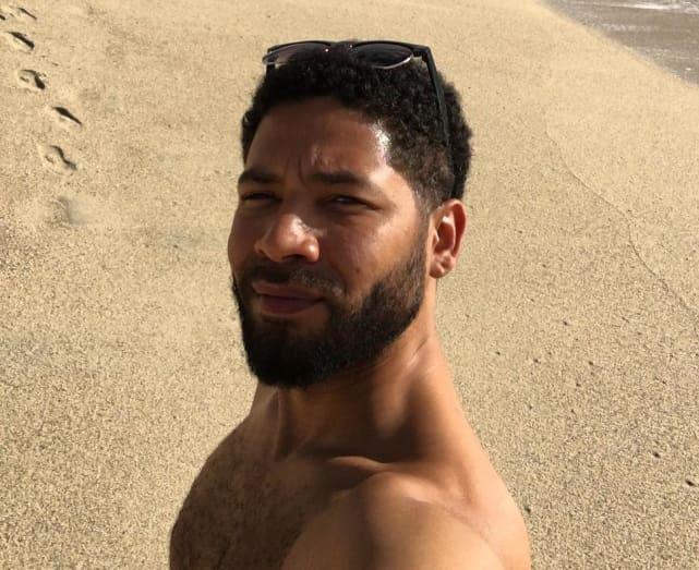 Jussie smollett at the beach