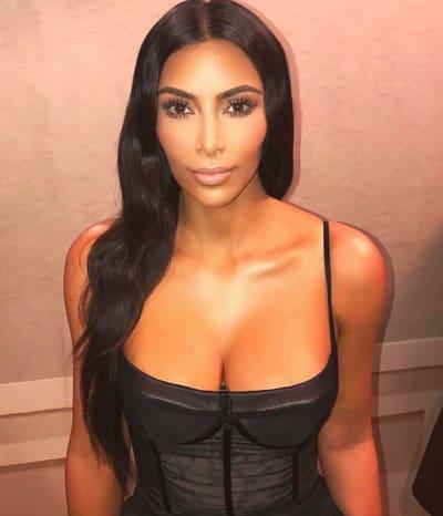 Kim Kardashian for National Lipstick Day