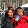 Kim kardashian north west and kanye west in dc