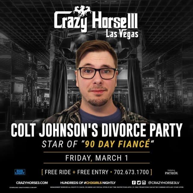 Colt johnson divorce party ad