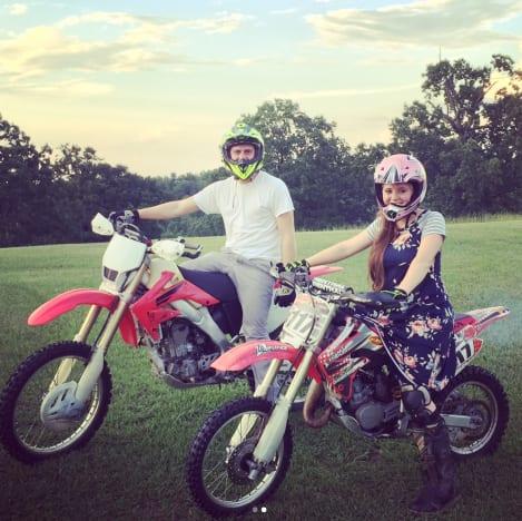 Joy-Anna and Austin Forsyth on Dirt Bikes