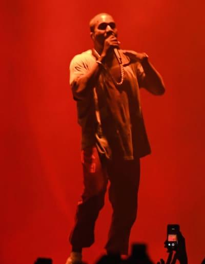 Kanye West in Queens