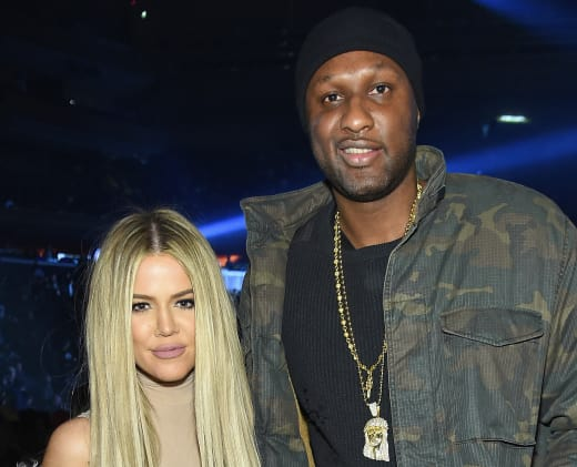 Lamar with Khloe