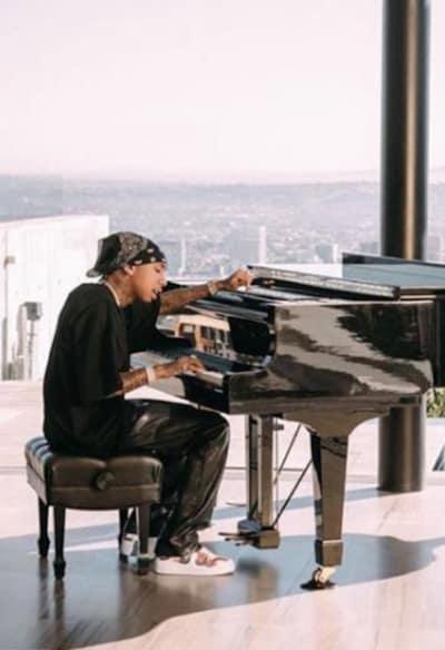Tyga at the Piano