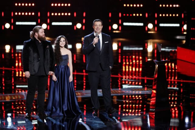 Chris kroeze chevel shepherd carson daly on the voice