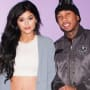 Kylie jenner and tyga smile