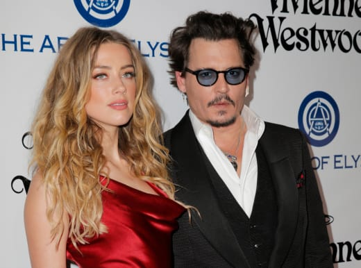 Johnny Depp and Amber Heard Photo