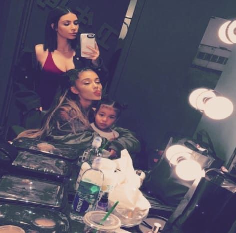 Kim Kardashian, Ariana Grande, North West