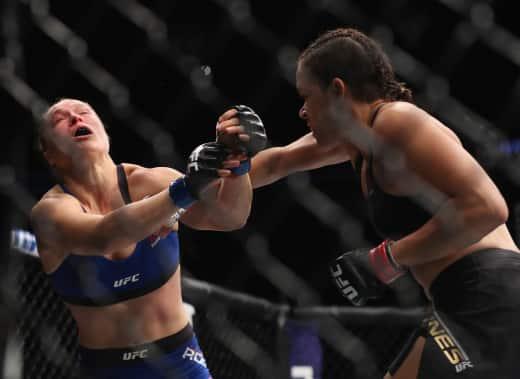 Amanda Nunes Punches Ronda Rousey
