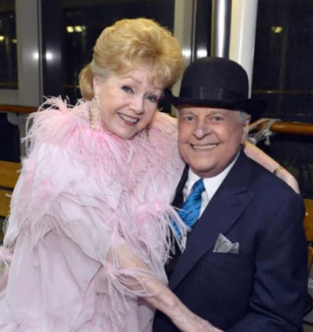 Robert Osborn and Debbie Reynolds