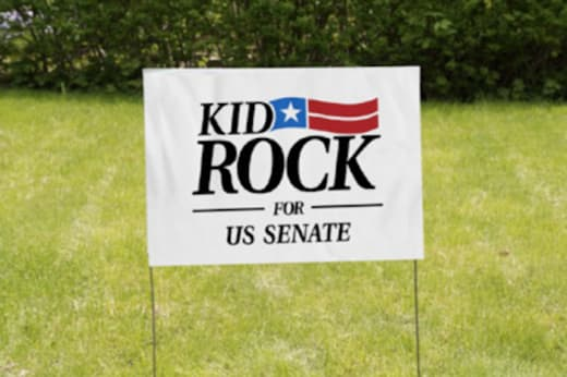 Kid Rock for Senate Sign