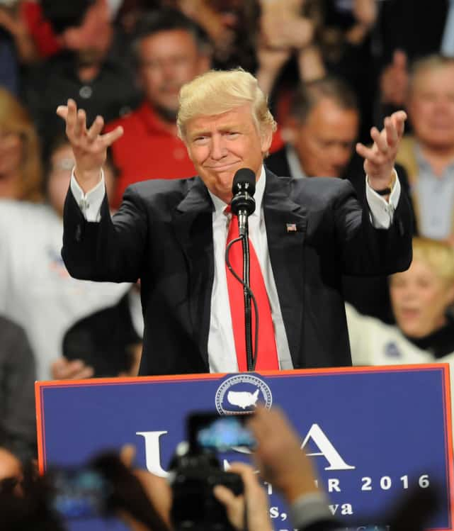 Donald trump in victory tour