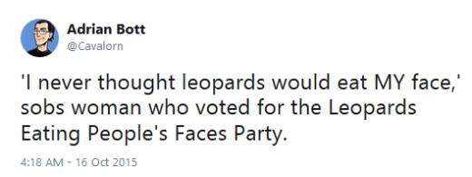 Leopard Face Political Meme