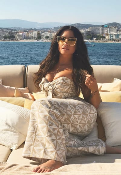 Demi Lovato on a Boat