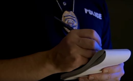 police taking notes time