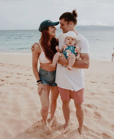 Audrey Roloff, Jeremy Roloff, and Ember Jean in Maui