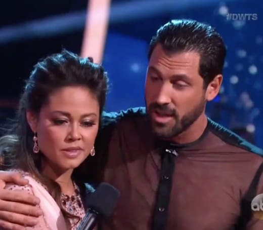 Maksim Chmerkovskiy and Vanessa Lachey on DWTS