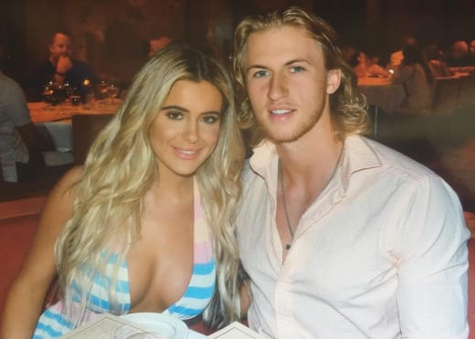 Brielle Biermann and Michael Kopech