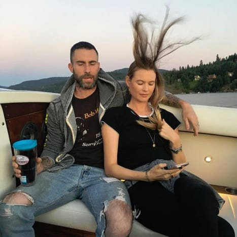 Adam Levine and Behati Prinsloo, Goofy Photo