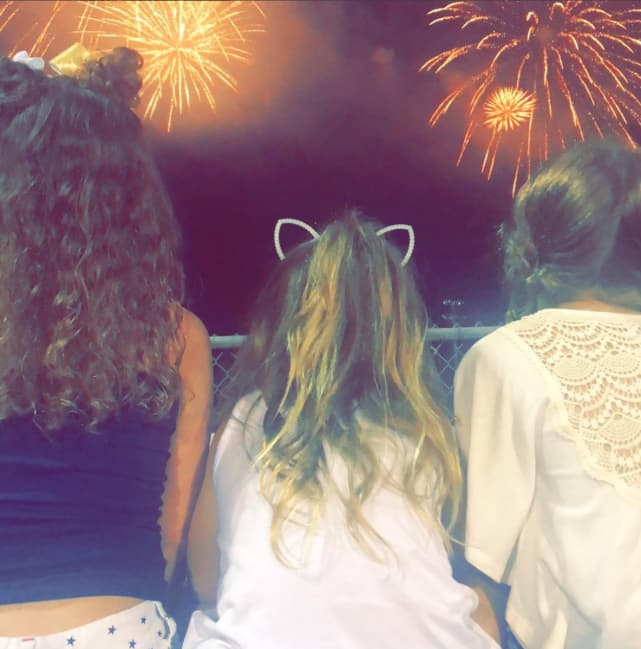 Leah messers daughters on the fourth