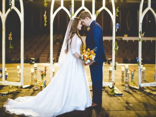 Joy-Anna and Austin at the Altar