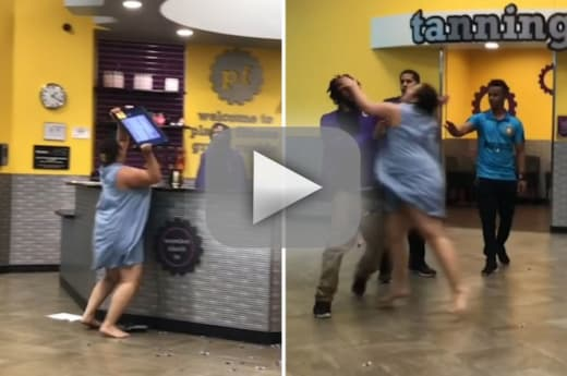 Outraged planet fitness member hurls equipment after dispute ove
