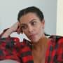 Kim listens apprehensively on kuwtk