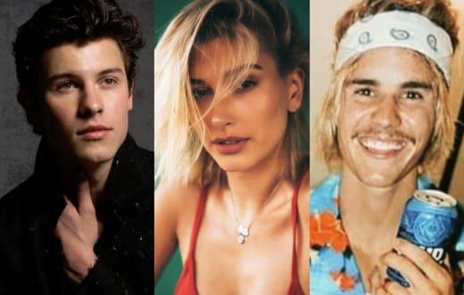Shawn Mendes, Hailey Baldwin, Justin Bieber Split
