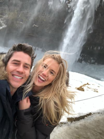 Arie Luyendyk Jr. and Lauren Burnham in Iceland