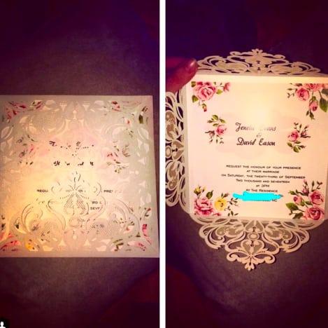 Jenelle Evans Wedding Invite