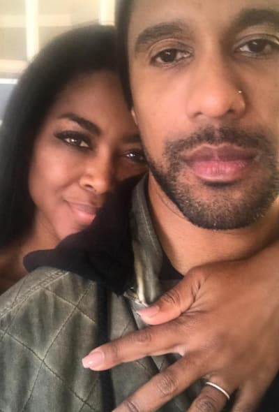 Kenya Moore and Husband