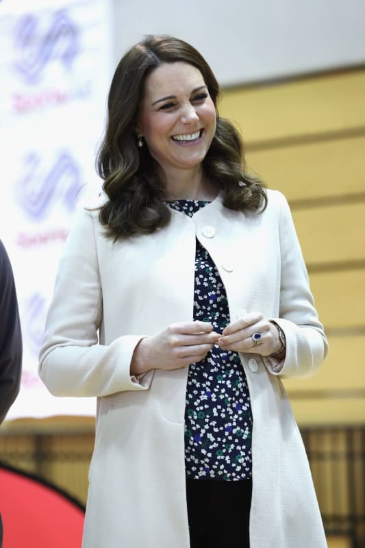 Kate middleton with a smile