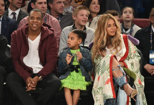 Jay Z, Blue Ivy, and Beyonce