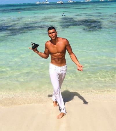 Younes Bendjima on the Beach