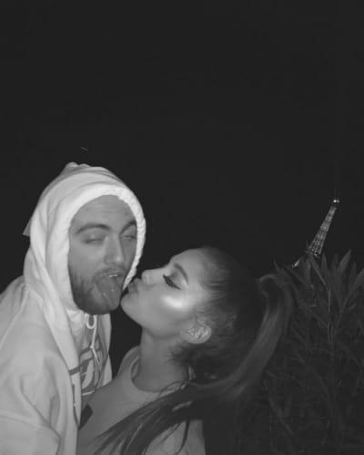 Ariana Grande Kisses Mac Miller