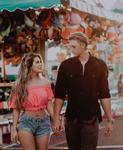 Brielle Biermann and Michael Kopech, Hand in Hand